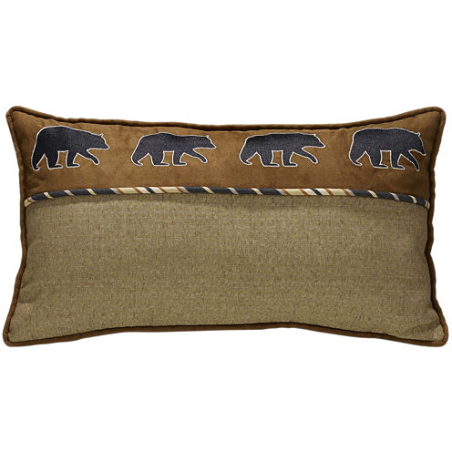 HiEnd Accents Ashbury Bear Oblong Square Decorative Pillow