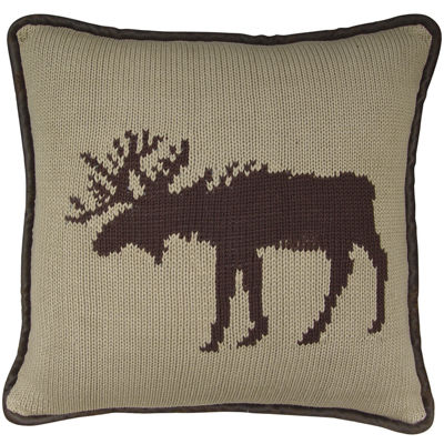 HiEnd Accents Wilderness Ridge Moose Decorative Pillow