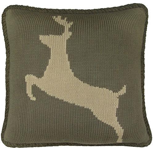 HiEnd Accents Wilderness Ridge Deer Decorative Pillow