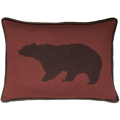 HiEnd Accents Wilderness Ridge Bear Decorative Pillow