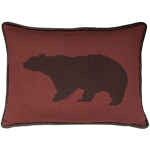 HiEnd Accents Wilderness Ridge Bear Decorative Pillow