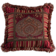 HiEnd Accents Lorenza Printed Velvet Square Decorative Pillow