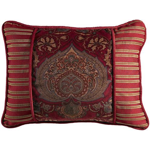 HiEnd Accents Lorenza Printed Velvet Oblong Decorative Pillow
