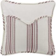 HiEnd Bandera Red Stripe Envelope Square Decorative Pillow
