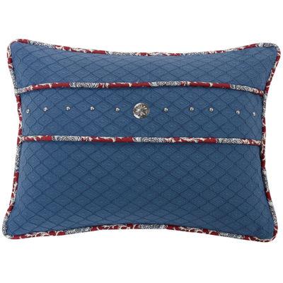 HiEnd Accents Bandera Blue Oblong Decorative Pillow
