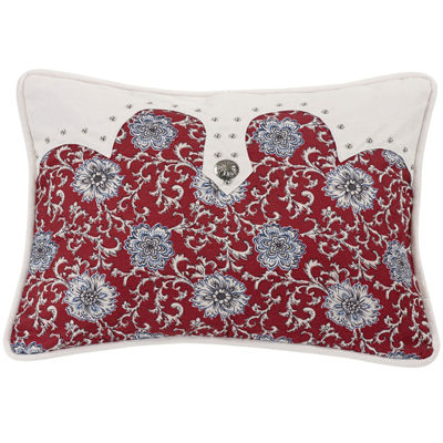 HiEnd Accents Bandera Floral Oblong Pillow