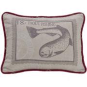 HiEnd Accents South Haven Printed Trout Decorative Pillow