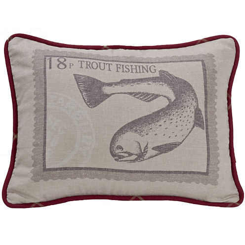 HiEnd Accents South Haven Printed Trout Decorative Pillow