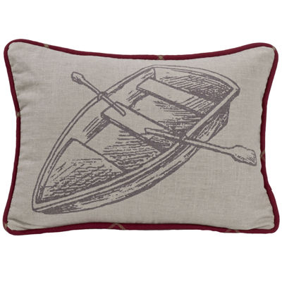 HiEnd Accents South Haven Printed Rowboat Decorative Pillow