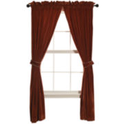 HiEnd Accents Lorenza Velvet 2-Pack Curtain Panels