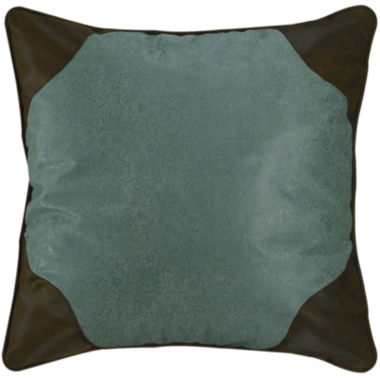 jcpenney.com | HiEnd Accents Cheyenne Turquoise Faux-Leather Euro Sham