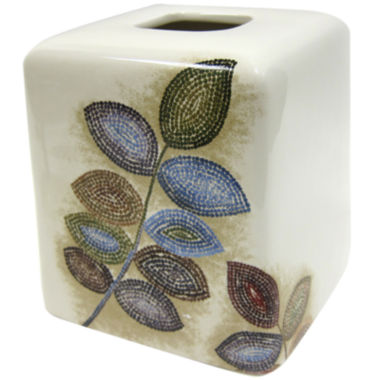 jcpenney.com | Croscill Classics® Mosaic Leaves Tissue Cover