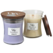 WoodWick® Vanilla Bean and Lavender Spa Candle Gift Set