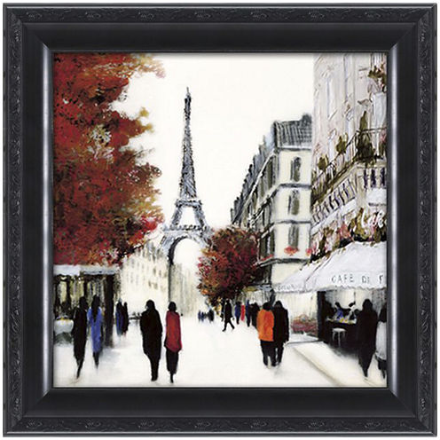 Paris Street Scene Framed Wall Art