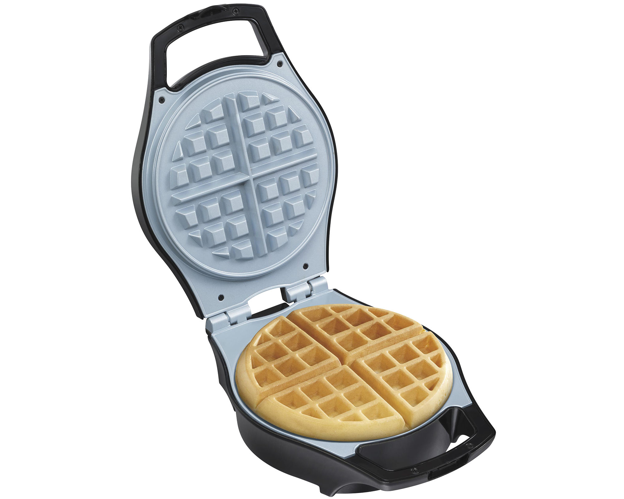Hamilton Beach Mess-Free Belgian Waffle Maker + Ceramic Coated Grids
