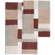 Sunham Home Fashions Abstract Acres 2-pc. Cotton Bath Rug Set