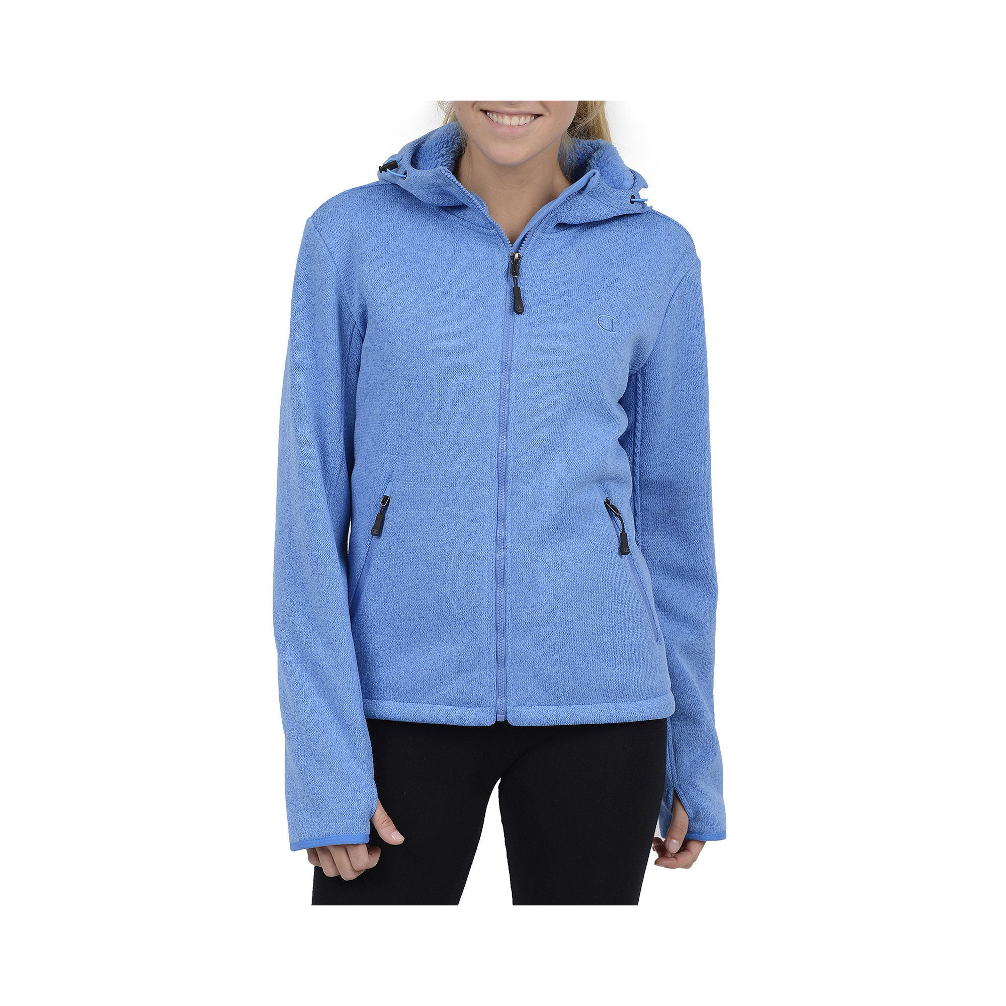 Champion Sweater Fleece Hooded Jacket - Plus plus size,  plus size fashion plus size appare