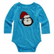 Okie Dokie® Long-Sleeve Holiday Bodysuit - Baby Girls newborn-24m