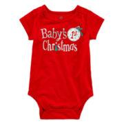 Okie Dokie® Shirred Bodysuit - Baby Girls newborn-24m