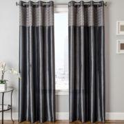 Guild Faux-Silk Grommet-Top Curtain Panel