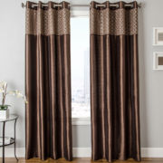 Guild Faux-Silk Grommet-Top Curtain Panel