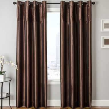 jcpenney.com | Colfax Faux-Silk Grommet-Top Curtain Panel