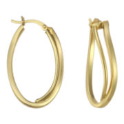 Double Wave Hoop Earrings