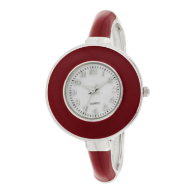 jcpenney.com | Womens Ultra Slim Enamel Bangle Watch