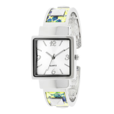 jcpenney.com | Womens Iridescent Snake Print Bangle Watch