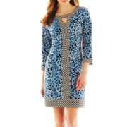 Liz Claiborne Border Print Tunic Dress