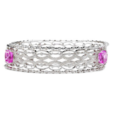 jcpenney.com | Lab-Created Pink Sapphire & Diamond-Accent 3-pc. Bangle Bracelet Set