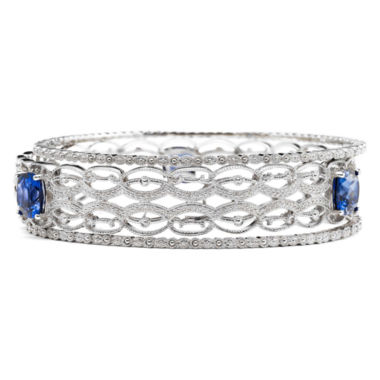 jcpenney.com | Lab-Created Sapphire & Diamond-Accent 3-pc. Bangle Bracelet Set