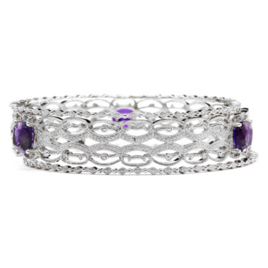 jcpenney.com | Lab-Created Amethyst & Diamond-Accent 3-pc. Bangle Bracelet Set