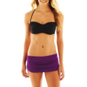 jcp™ Solid Twist Bandeau Swim Top or Skirted Bottoms