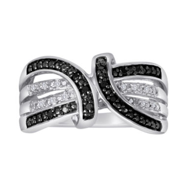 jcpenney.com | 1/10 CT. T.W. White & Color-Enhanced Black Diamond Ring
