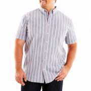 The Foundry Supply Co.™ Striped Oxford Shirt-Big & Tall