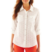 Arizona Long-Sleeve Eyelet Shirt