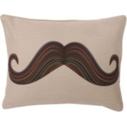 Mustache Oblong Decorative Pillow