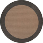 Couristan® Checkered Field Indoor/Outdoor Round Rugs
