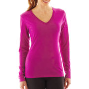Nike® Long-Sleeve V-Neck Top