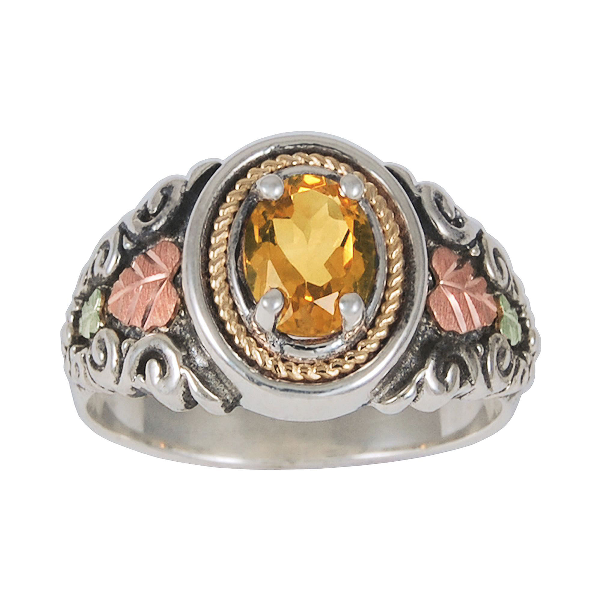 Black Hills Gold Jewelry by Coleman Genuine Citrine Ring