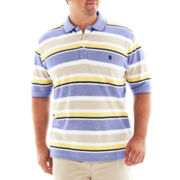 IZOD® Striped Piqué Polo Shirt-Big & Tall
