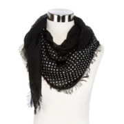 Metallic Foil Dot Scarf