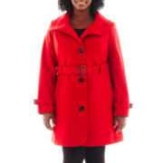 Worthington® Belted Wool-Blend Coat - Plus