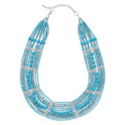 Mixit™ Aqua Seed Bead Collar Necklace