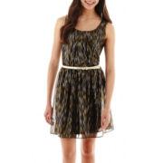 by&by Sleeveless Foil-Body Dress