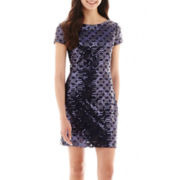 Speechless® Cap-Sleeve Sequin Dress