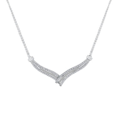 jcpenney.com | 1/2 CT. T.W. Diamond 10K White Gold Chevron Necklace