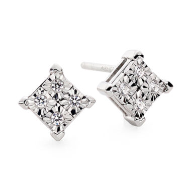 jcpenney.com | Diamond-Accent 10K White Gold Quad-Framed Stud Earrings
