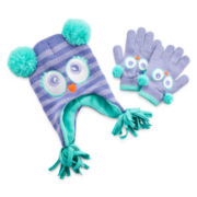 Owl Hat and Glove Set - Girls